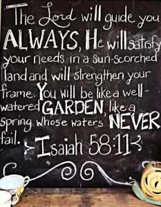 Isaiah 58 11 blackboard